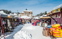 Winter market Stock Photo