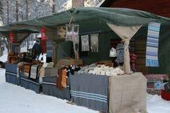 Winter-Markt Stockbilder