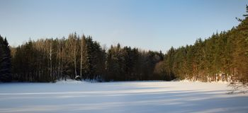 Winter Meadow Royalty Free Stock Photography