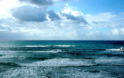 Winter Mediterranean sea. In Bat-Yam, Israel Royalty Free Stock Images