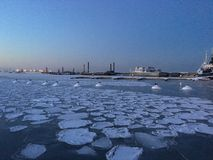 Winter-Meer Stockbilder
