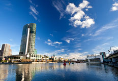 Winter in Melbourne. View on Yarra River Royalty Free Stock Photos