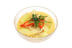 Winter melon with pork belly in sour red curry Royalty Free Stock Image