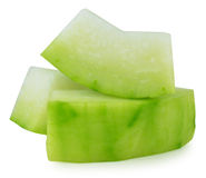 Winter melon on white background Royalty Free Stock Photography