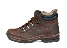 Winter men boot Stock Photo