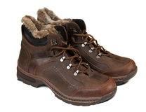 Winter men boots Royalty Free Stock Photo