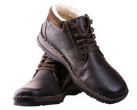 Winter men boots Royalty Free Stock Photography