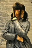 Winter men fashion in Europe Stock Photography