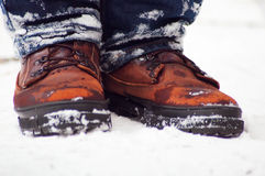 Winter men's boots Stock Images