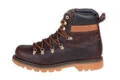 Winter men shoe. Isolated on white Royalty Free Stock Photos