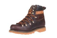 Winter men shoe. Isolated on white Stock Image