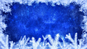 Winter and merry christmas blue background Royalty Free Stock Image