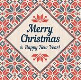 Winter Merry Christmas Frame Border Invitation Banner Greeting Card Template.