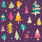 Winter, Merry christmas, seamless pattern Stock Image