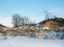 Winter michigan dunes Stock Image