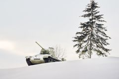Winter military landscape Stock Photography