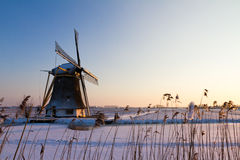 Winter mill stock images