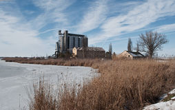 Winter mill Stock Photography