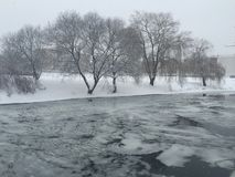 Winter in Minsk lizenzfreies stockfoto