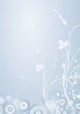 Winter mit Blumen Stockbild