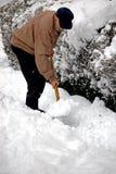 Winter mit hohem Schnee stockfotos