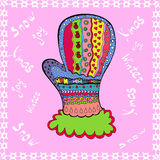 Winter mitten, vector Royalty Free Stock Image