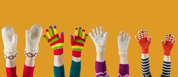 Winter mittens and gloves Stock Photography