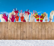 Winter mittens and gloves Stock Photo