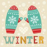 Winter mittens Stock Photography