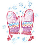 Winter mittens Royalty Free Stock Photo