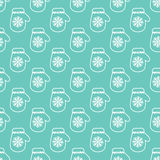 Winter Mittens Seamless Vector Pattern Stock Image