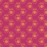 Winter Mittens Seamless Vector Pattern Stock Photo