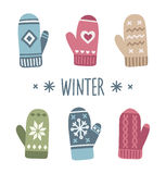 Winter mittens Stock Image