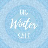 Winter mobile banner sale Stock Photos