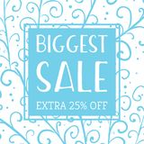 Winter mobile banner sale Royalty Free Stock Photo