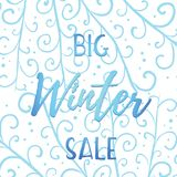 Winter mobile banner sale Stock Photography