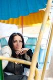 Winter-Mädchen im Luxusmode-Pelz-Mantel Lizenzfreie Stockfotografie