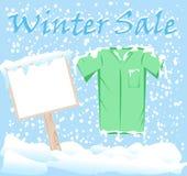 Winter-Mode-Verkaufs-Aufkleber stockfotografie