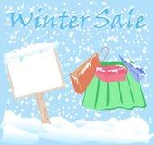 Winter-Mode-Verkaufs-Aufkleber stockfotos