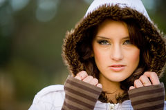 Winter Model Royalty Free Stock Photography