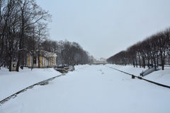 Winter Moika river in St. Petersburg, Russia Royalty Free Stock Photography