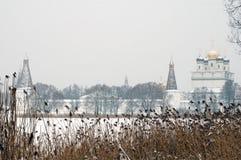 Winter monastery 1 Royalty Free Stock Photo