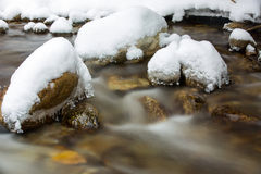 Winter montain brook Royalty Free Stock Image
