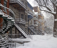 Winter in Montreal Stock Image