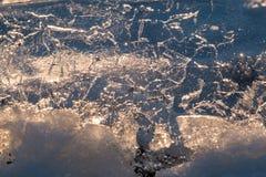 Winter-Morgen auf dem Fluss Lizenzfreie Stockfotos