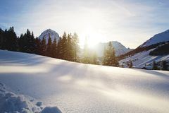 Free Winter Morgen Landscape At The Mountains Royalty Free Stock Image - 166144206