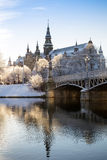 Winter-Morgen in Stockholm Stockbild