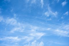 Morning sky with clouds. Winter morning blue sky with clouds and texture royalty free stock image
