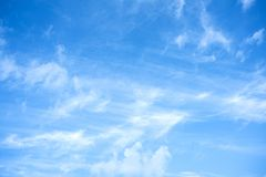 Morning sky with clouds. Winter morning blue sky with clouds and texture royalty free stock photo