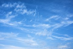 Morning sky with clouds. Winter morning blue sky with clouds and texture royalty free stock photos